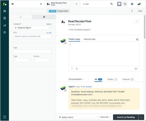 Zendesk Email Validation - DeskPerk